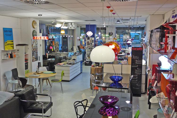 Der Shop im Erdgeschoss