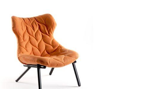Kartell-FOLIAGE_armchair_orange